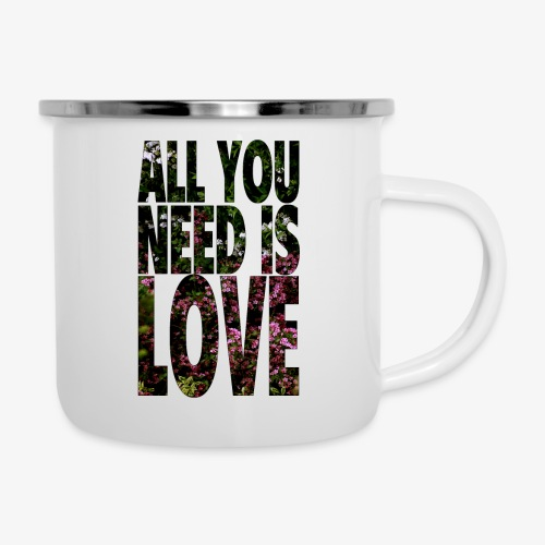 All You need is love - Kubek emaliowany