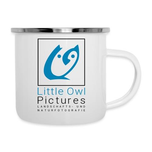 Little Owl Pictures Logo (schwarz/blau) - Emaille-Tasse