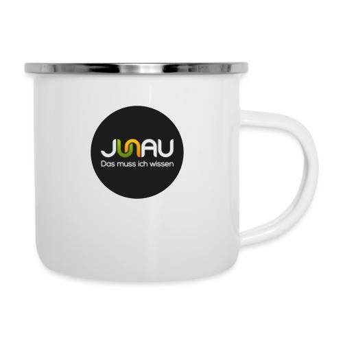 JUNAU - Das muss ich Wissen (rund) - Emaille-Tasse
