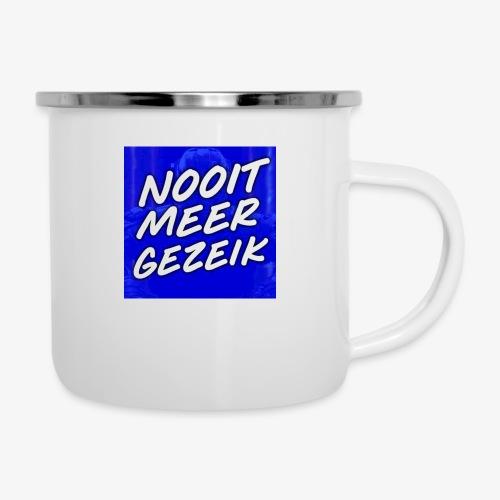 De 'Nooit Meer Gezeik' Merchandise - Emaille mok