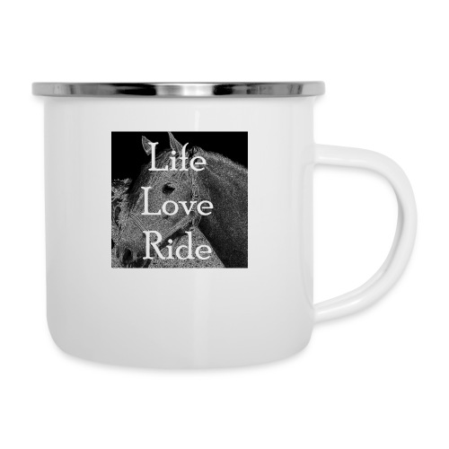 Life Love Ride - Emaille-Tasse