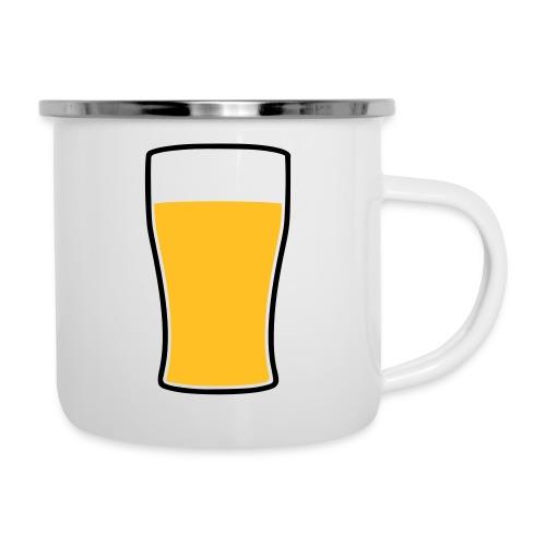 Bier! - Emaille-Tasse