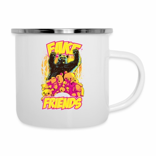 Fake Friends - Emaille-Tasse