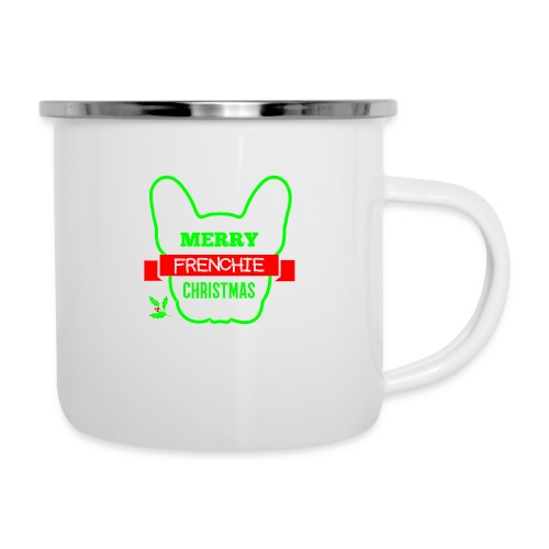 Frenchie Xmas 1 - Emaille-Tasse