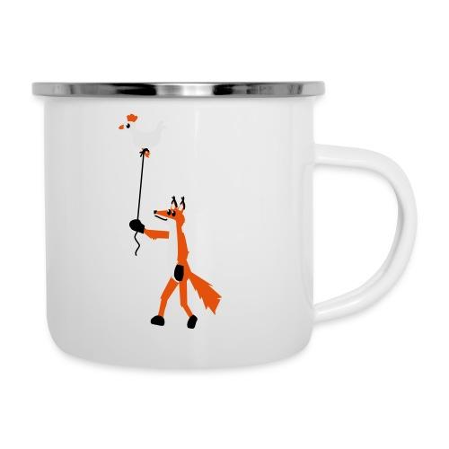 Fuchs und Henne - Emaille-Tasse