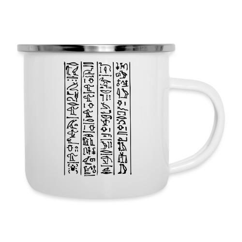Kursiv-Hieroglyphen - Emaille-Tasse