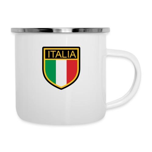 SCUDETTO ITALIA CALCIO - Tazza smaltata