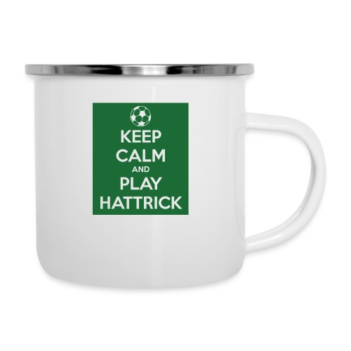 keep calm and play hattrick - Tazza smaltata