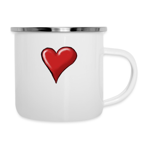 Love (coeur) - Tasse émaillée