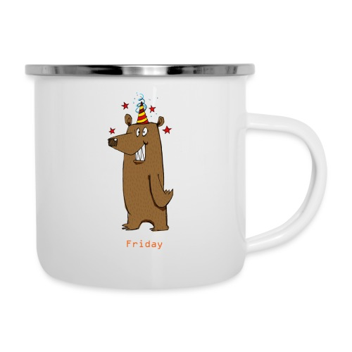 Love Fridays Party Bear for Work Office - Tazza smaltata