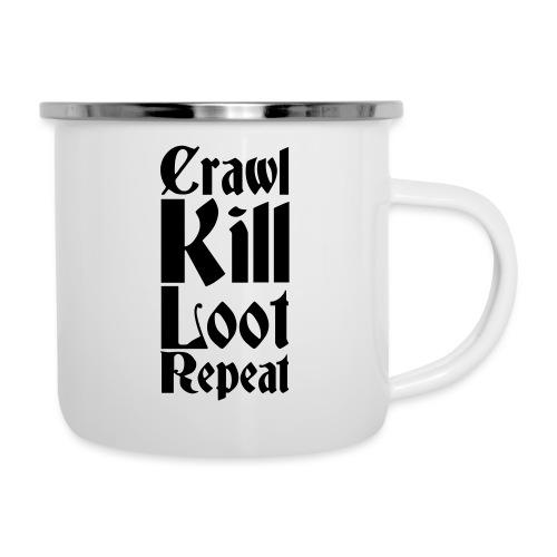 Crawl, kill, loot, repeat - Camper Mug