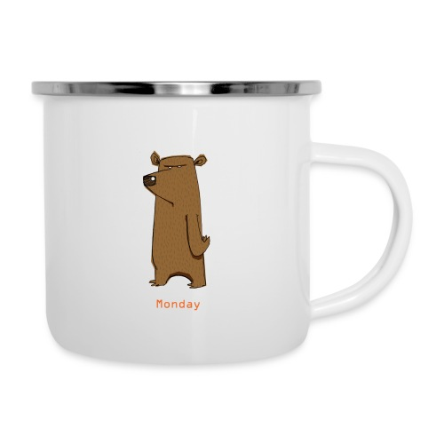 Odio lunedì scontroso orso lavoro ufficio pendolari - Tazza smaltata