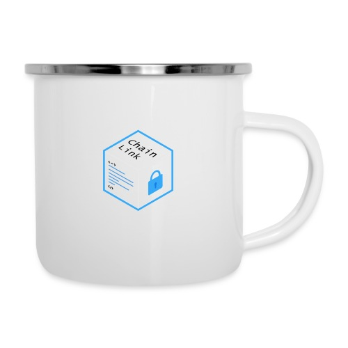 Cryptocurrency - ChainLink - Emaille-Tasse