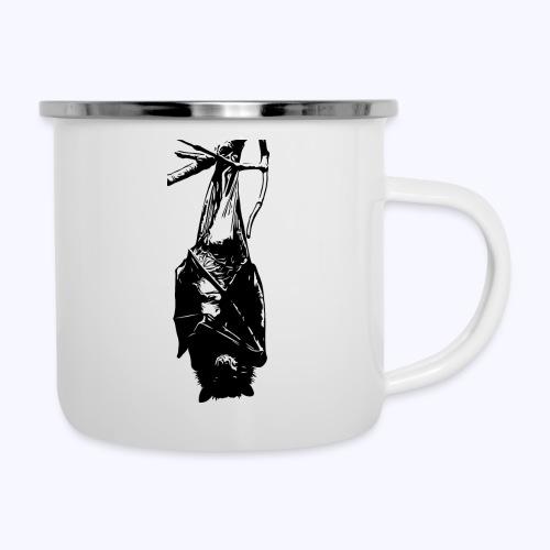 HangingBat schwarz - Emaille-Tasse