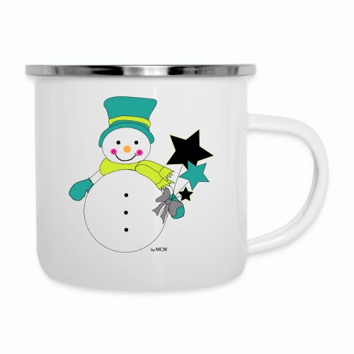 Snowtime-Green - Emaille-Tasse