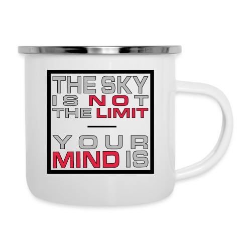 No Limit Mind - Emaille-Tasse
