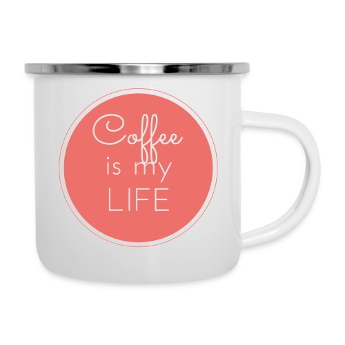 Coffee is my life - Taza esmaltada
