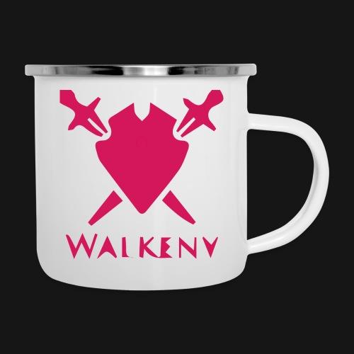 Das Walkeny Logo mit dem Schwert in PINK! - Emaille-Tasse