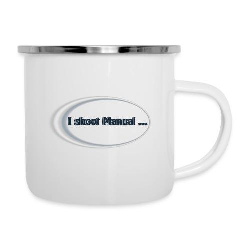 I shoot manual slogan - Camper Mug