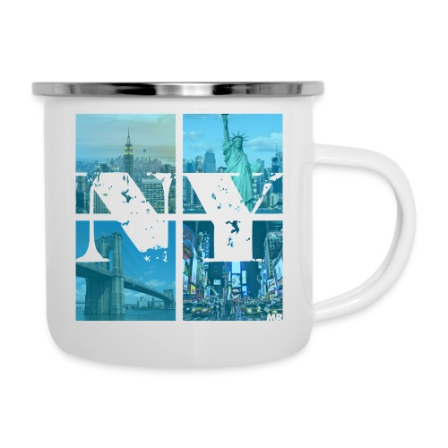 NEW YORK BLUE - Emaille-Tasse