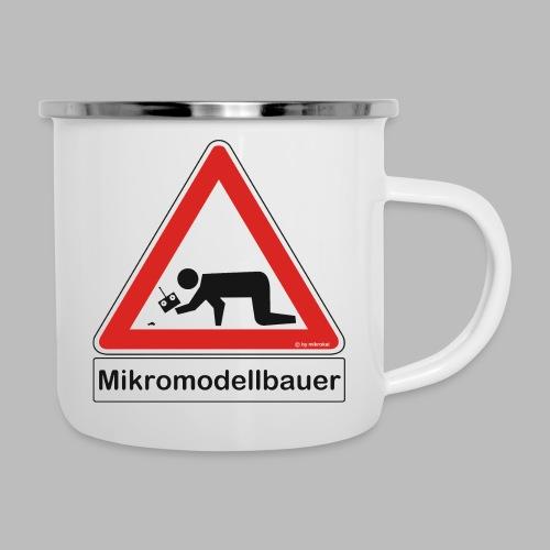 Warnschild Mikromodellbauer Auto - Emaille-Tasse