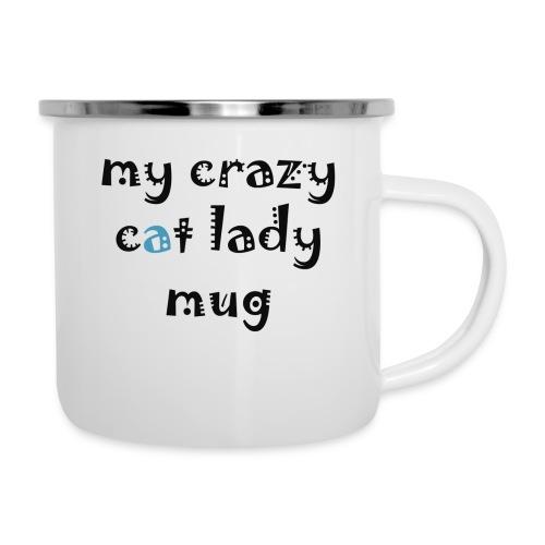Crazy cat lady mug - Emaljekrus