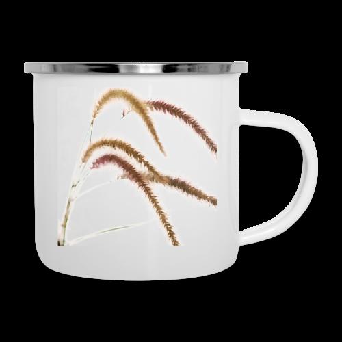 Tender grass watercolor minimalism nature - Camper Mug