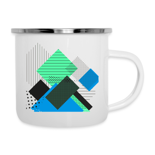 Abstract rectangles pastel - Camper Mug