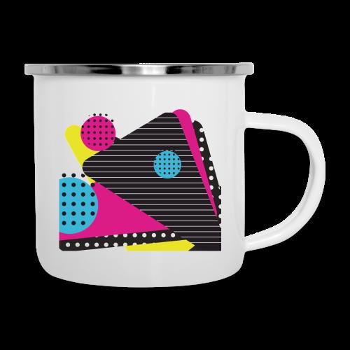 Abstract vintage shapes pink - Camper Mug