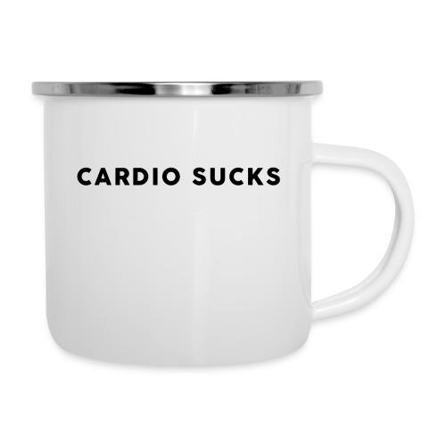 Cardio Sucks - Emaille-Tasse