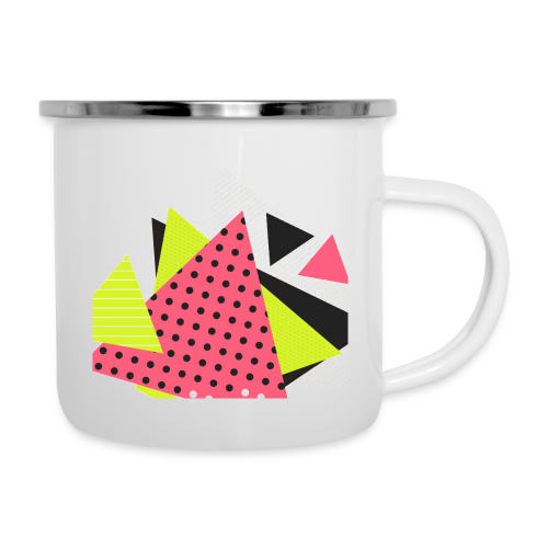 Neon geometry shapes - Camper Mug