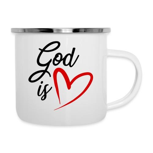 God is love 2N - Tazza smaltata