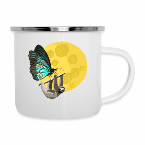 Fly me to the moon - Emaille-Tasse