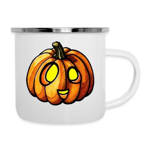 Pumpkin Halloween watercolor scribblesirii - Camper Mug