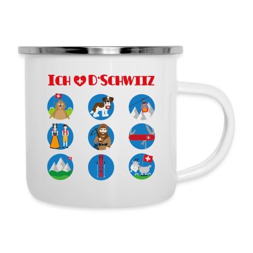 Ich liebe d'Schwiiz - Emaille-Tasse