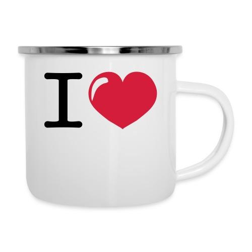 i love heart - Emaille mok