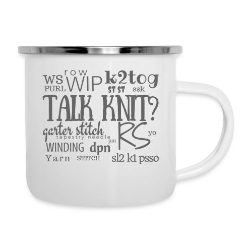 Talk Knit ?, gray - Camper Mug