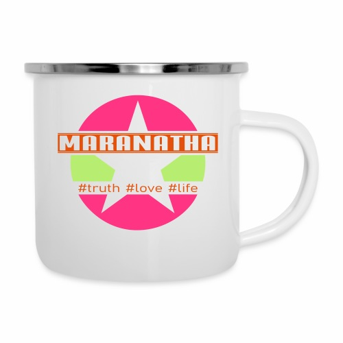 maranatha rosa-grün - Emaille-Tasse