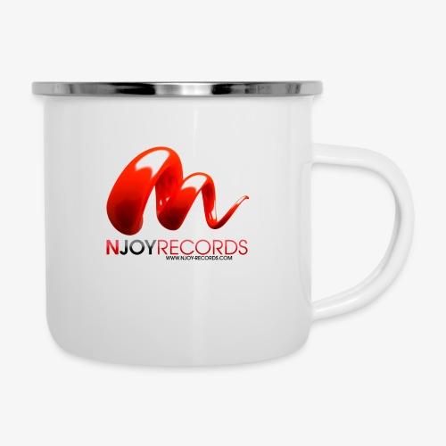 Logo Njoy Records Noir - Tasse émaillée