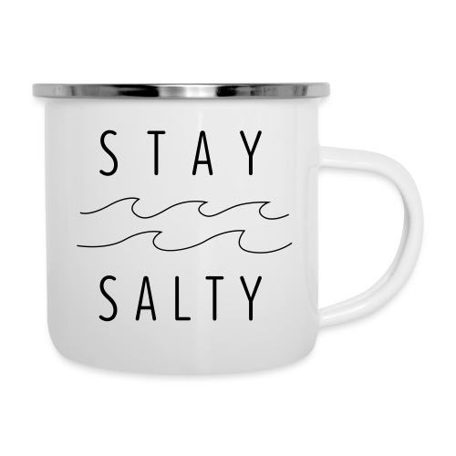 stay salty - Emaille-Tasse