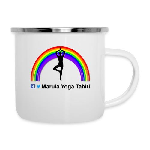 Logo de Maruia Yoga Tahiti - Tasse émaillée