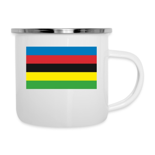Cycling_World_Champion_Rainbow_Stripes-png - Emaille mok