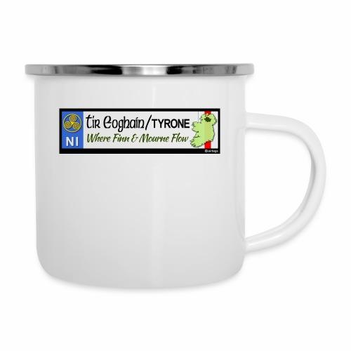 TYRONE, NORTHERN IRELAND licence plate tags decal - Camper Mug