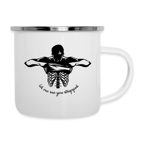 DM stripped - Emaille-Tasse