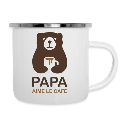 Papa aime le café - Tasse émaillée
