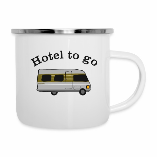 Hotel to go - Emaille-Tasse