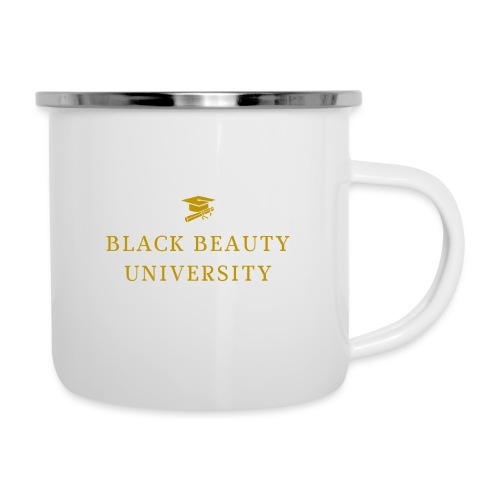 BLACK BEAUTY UNIVERSITY LOGO GOLD - Tasse émaillée