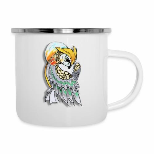 Cosmic owl - Taza esmaltada