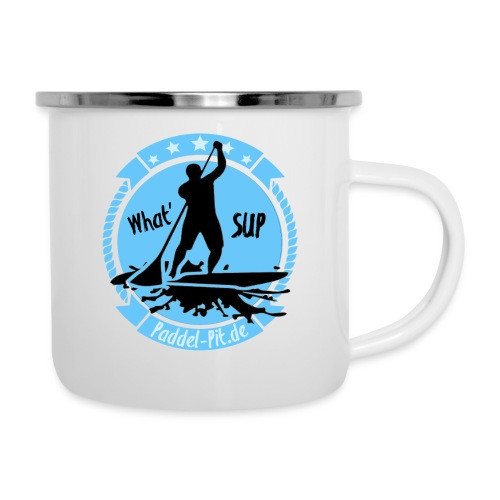What`SUP. SUP Board Stand Up Paddling Sport - Emaille-Tasse