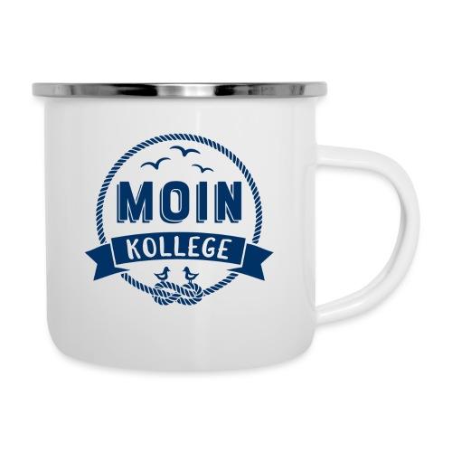 Moin Kollege maritimer Spruch - Emaille-Tasse